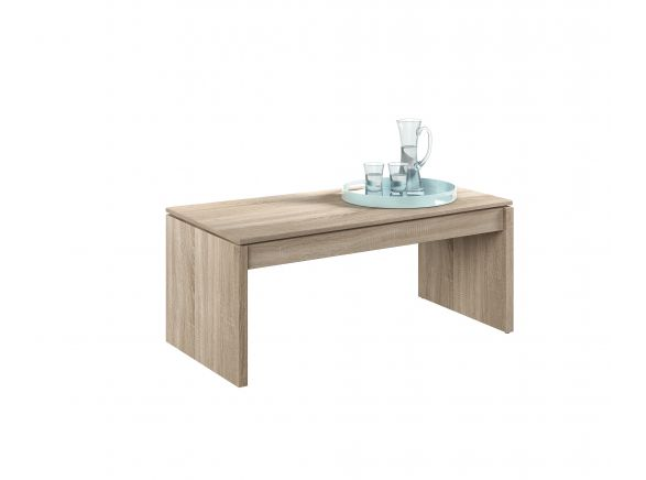 Table basse TOM à plateau relevable L102cm x H43/54cm