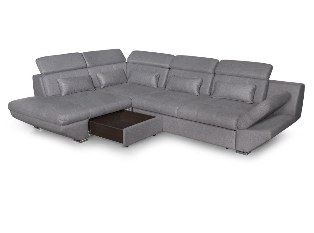 canap convertible avec tiroir tissu gris fonc bali ebay. Black Bedroom Furniture Sets. Home Design Ideas