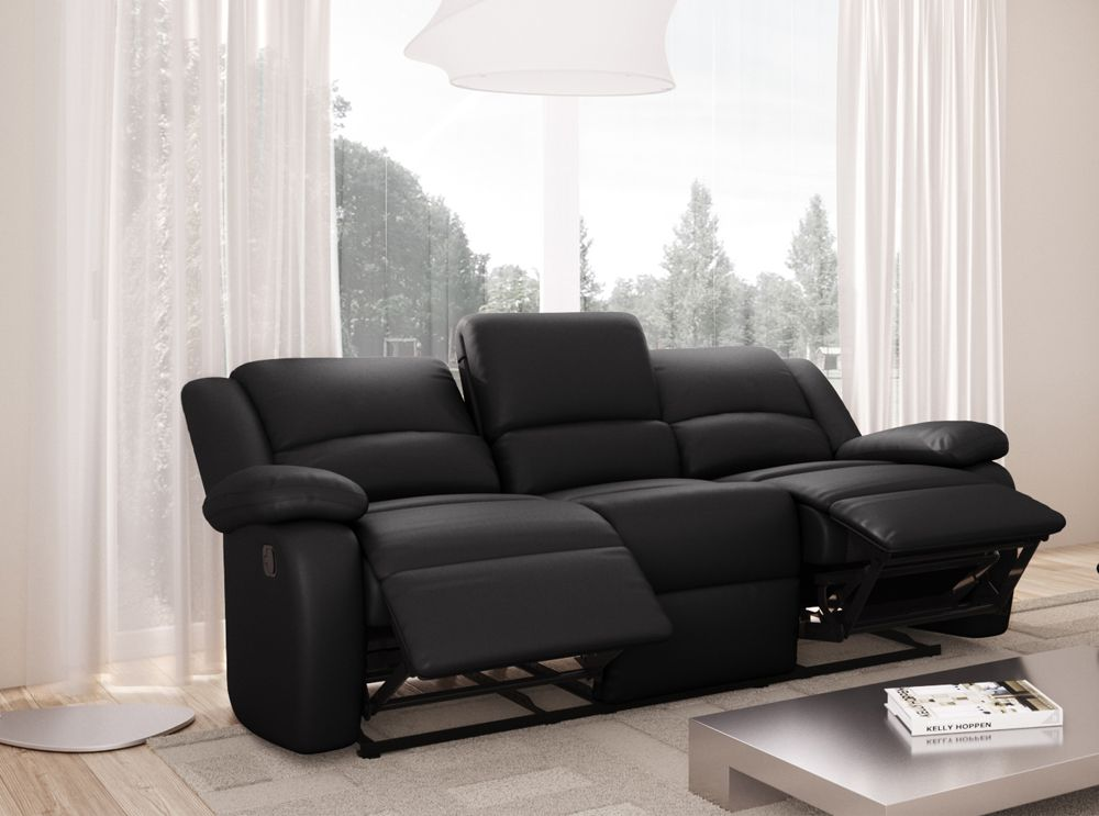 canap relaxation 3 places simili cuir detente. Black Bedroom Furniture Sets. Home Design Ideas