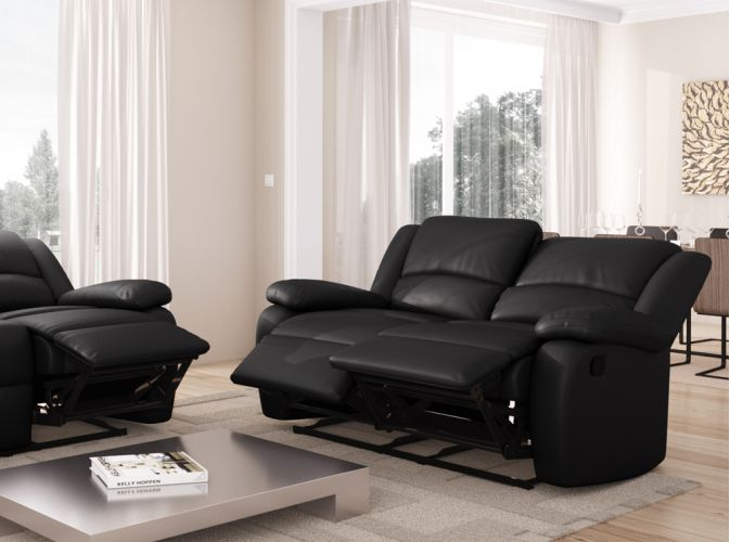 Canap relaxation 2 places simili cuir detente - Canape 2 places simili cuir ...