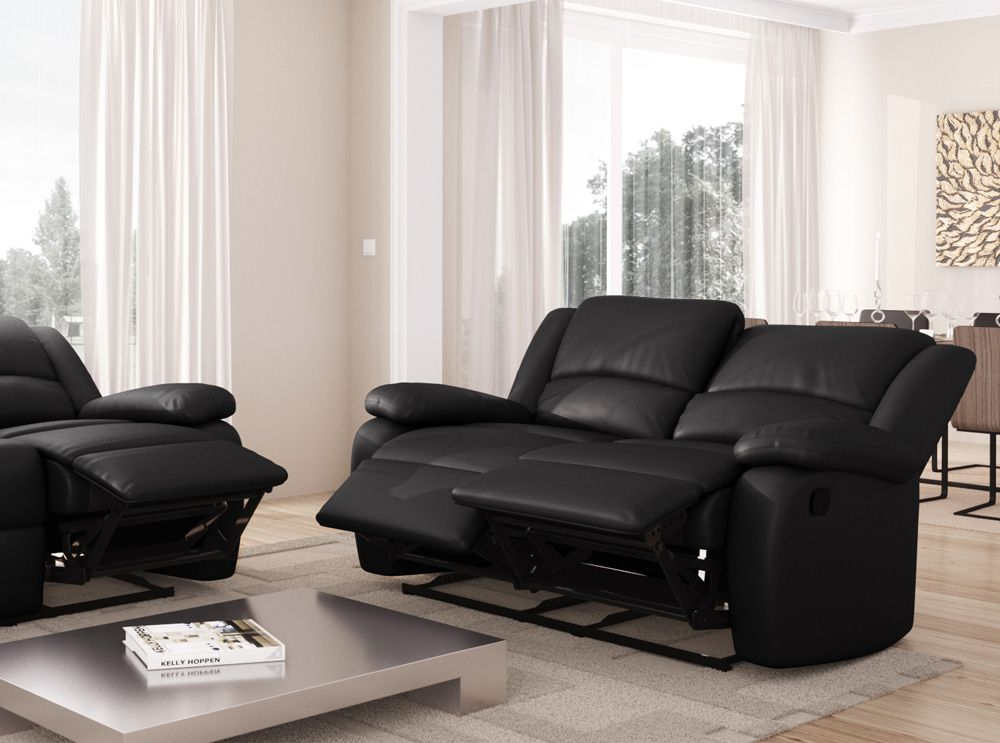canap relaxation 2 places simili cuir detente usinestreet. Black Bedroom Furniture Sets. Home Design Ideas