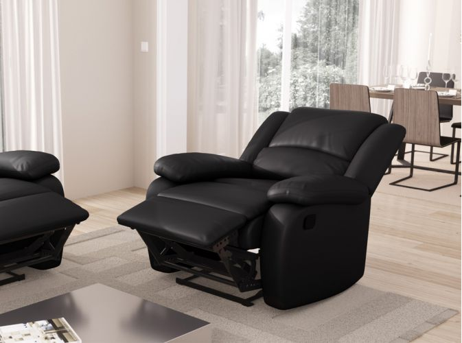 fauteuil relaxation 1 place simili cuir detente usinestreet. Black Bedroom Furniture Sets. Home Design Ideas