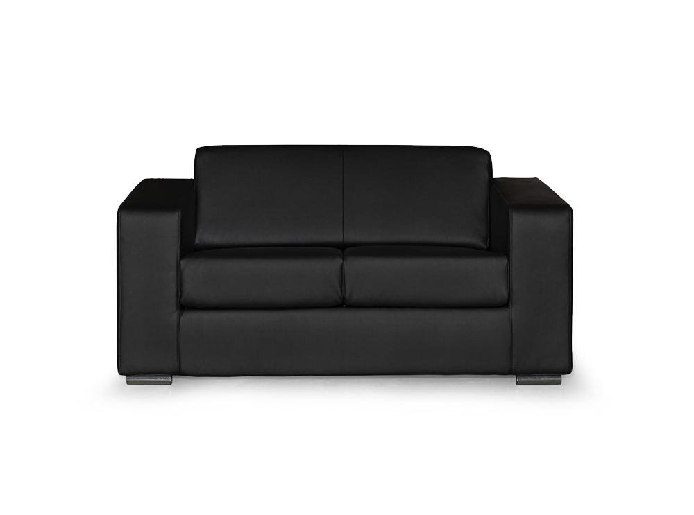 Canap design 2 places en simili cuir noir - Canape 2 places simili cuir ...