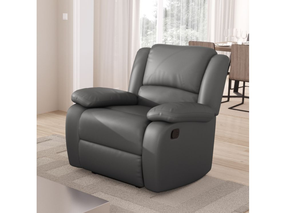 Fauteuil relaxation 1 place simili cuir detente - Fauteuil relax simili cuir ...