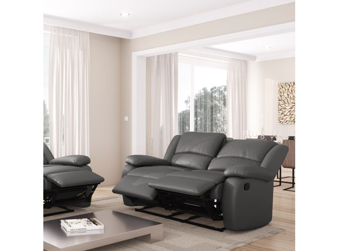canap relaxation 2 places simili cuir detente. Black Bedroom Furniture Sets. Home Design Ideas