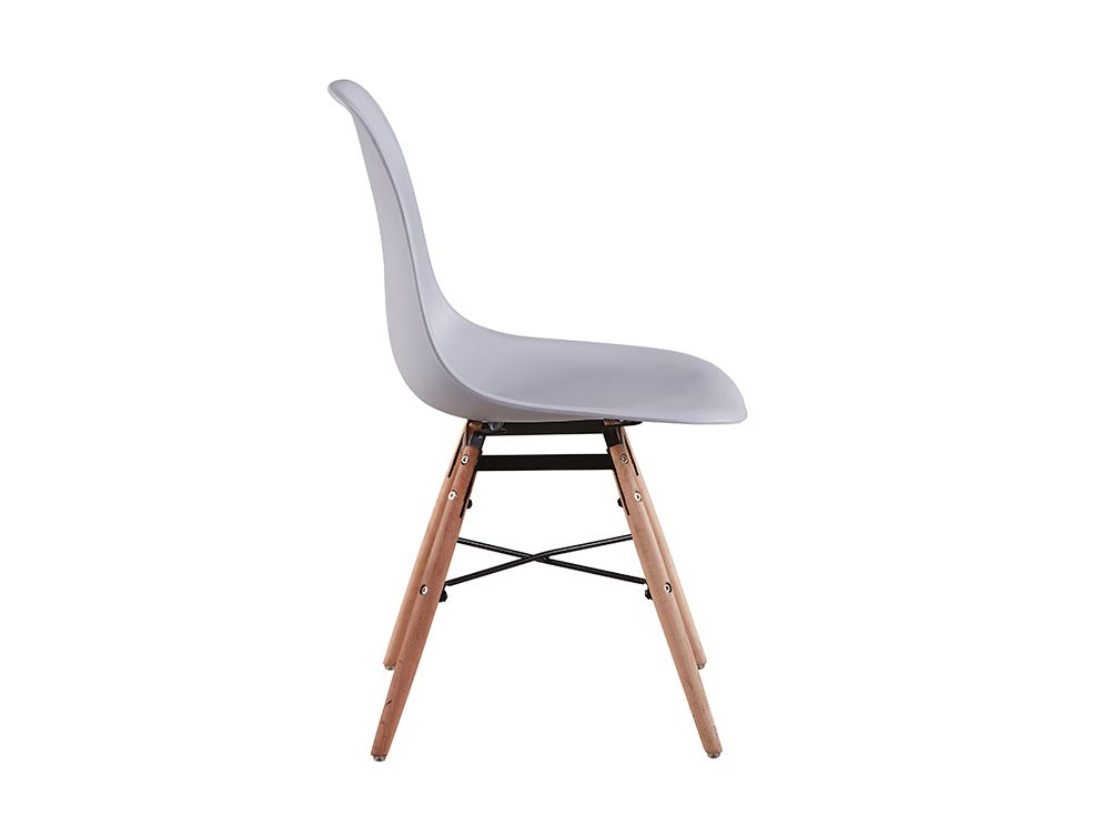 Chaises scandinaves luna for Chaise plastique bois