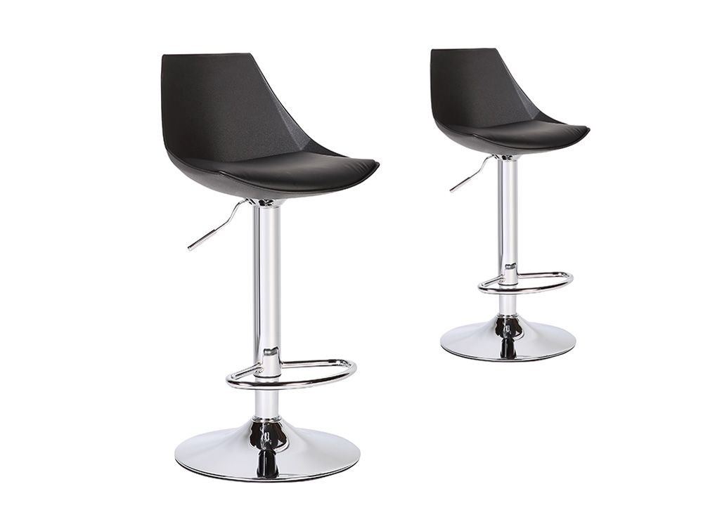tabouret de bar yoel avec pied en acier chrom. Black Bedroom Furniture Sets. Home Design Ideas