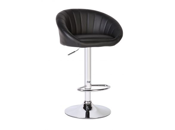 Lot de 2 tabourets de bar MIKA assise en simili et pied acier chromé