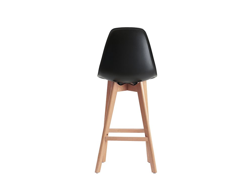 tabouret de bar stand style scandinave avec pieds en bois. Black Bedroom Furniture Sets. Home Design Ideas