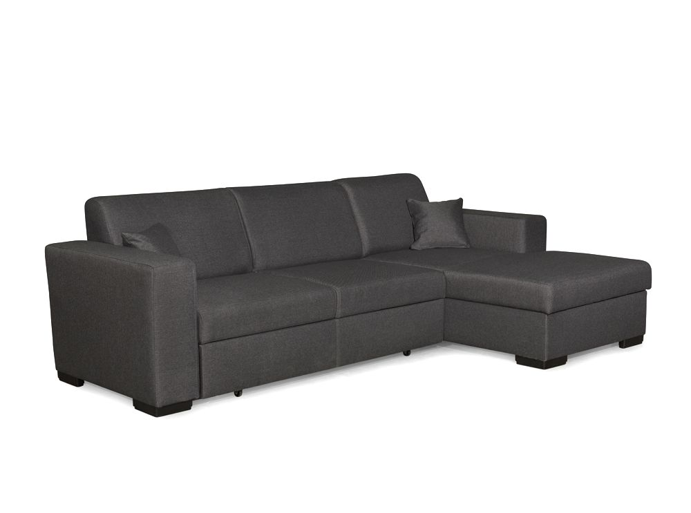 canap d 39 angle fuji xl convertible avec coffre tissu gris usinestreet. Black Bedroom Furniture Sets. Home Design Ideas