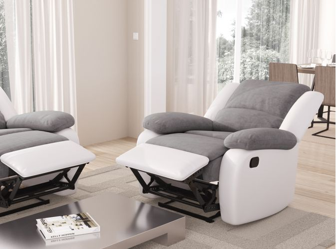 fauteuil relaxation 1 place microfibre simili detente usinestreet. Black Bedroom Furniture Sets. Home Design Ideas