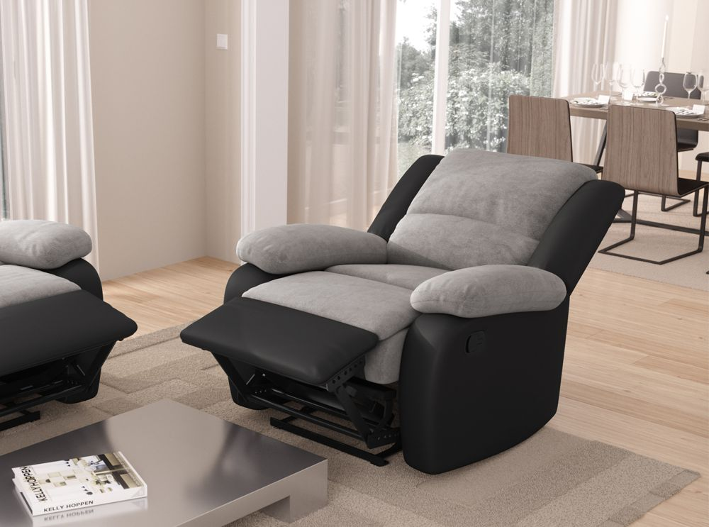 fauteuil relaxation 1 place microfibre simili detente. Black Bedroom Furniture Sets. Home Design Ideas