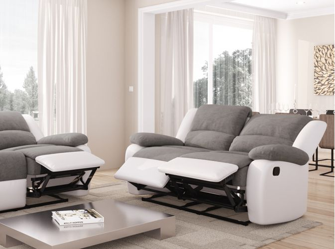 canap relaxation 2 places microfibre simili detente usinestreet. Black Bedroom Furniture Sets. Home Design Ideas