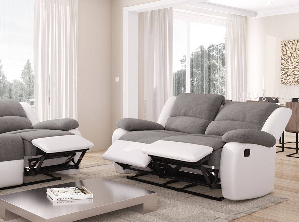 canap relaxation 2 places microfibre simili detente. Black Bedroom Furniture Sets. Home Design Ideas