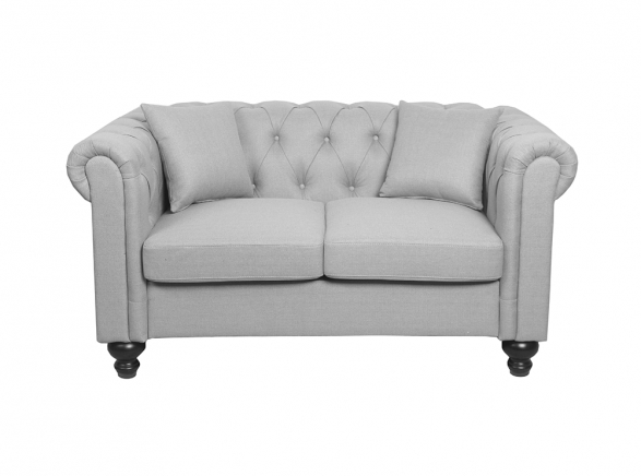 Canapé Chesterfield ALFRED 2 places en tissu