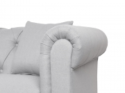 Canapé Chesterfield ALFRED 3 places en tissu