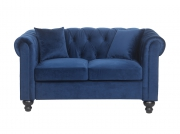Canapé Chesterfield ALFRED 2 places en velours