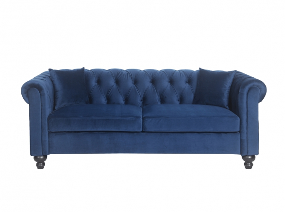 Canapé Chesterfield ALFRED 3 places en velours