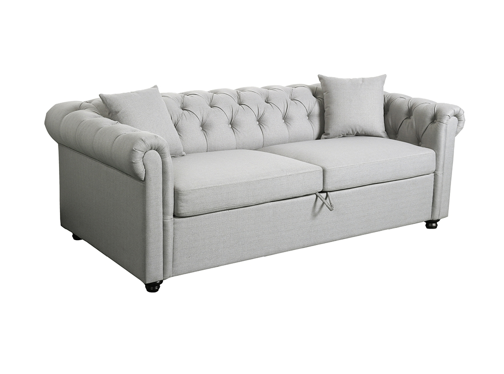 Chesterfield 3 Alfred Canapé Convertible En Places Tissu Nwn0Ok8PX