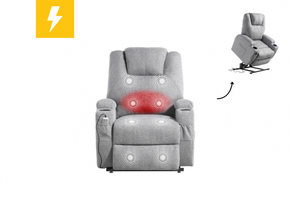 Fauteuil de relaxation massant chauffant FRED...